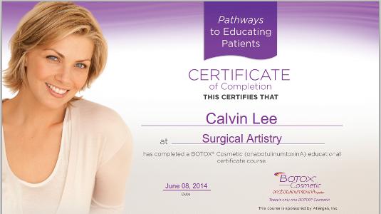 CALVIN LEE, Modesto BOTOX Surgeon | Juvederm