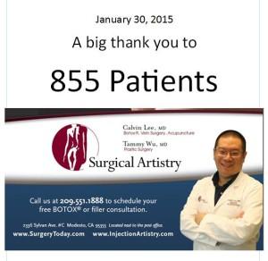 855 different Botox patients