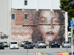 a girl on the wall christchurch DSCN0857